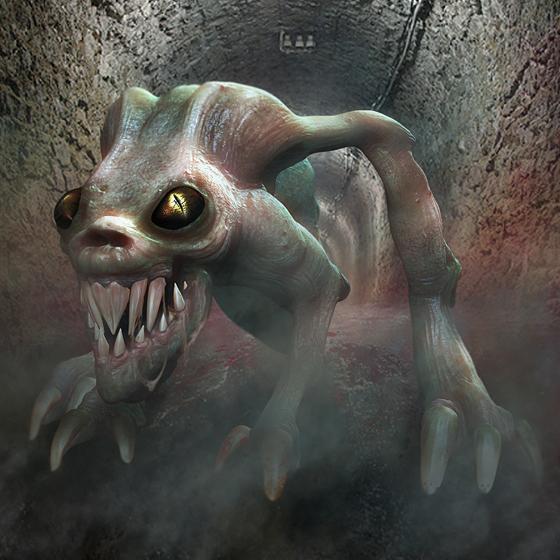 Demon 3D creature