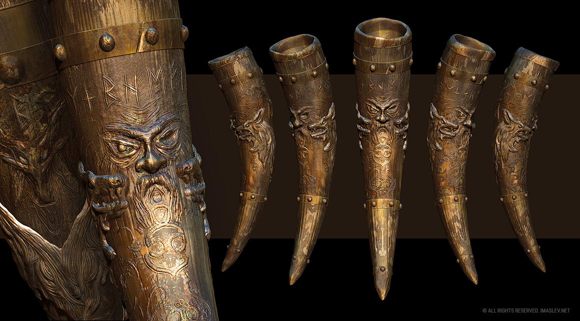3D Drinking horn