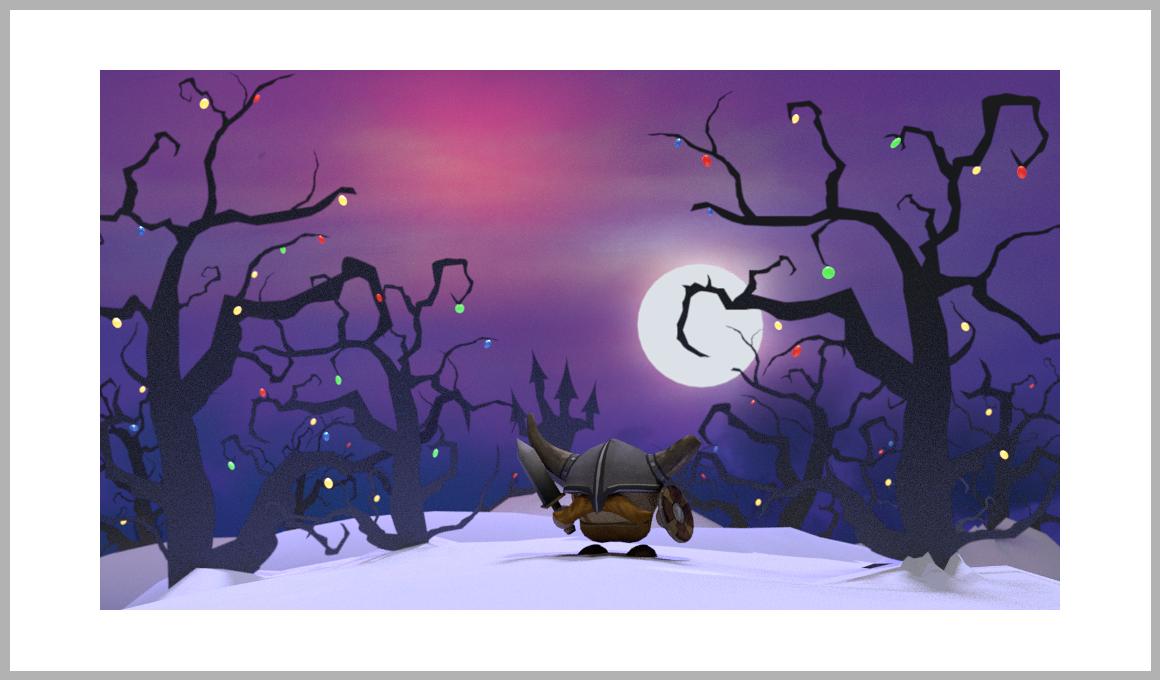 Christmas cad 3D Viking