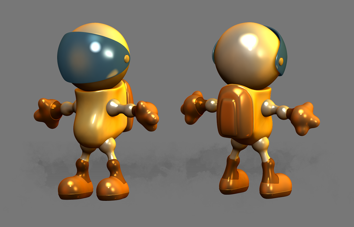 Spaceboy 3D character