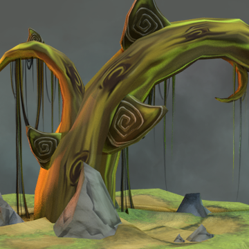 Magic Tree - Low Poly 3D