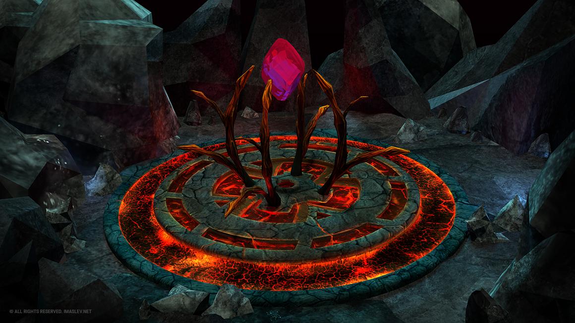 Magic Altar 3D environment