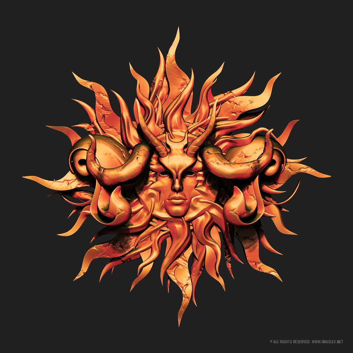 The Sun - 3D Abstract model