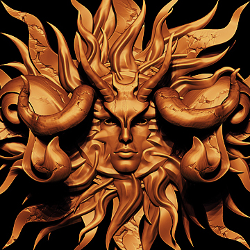 3d Sun Relief