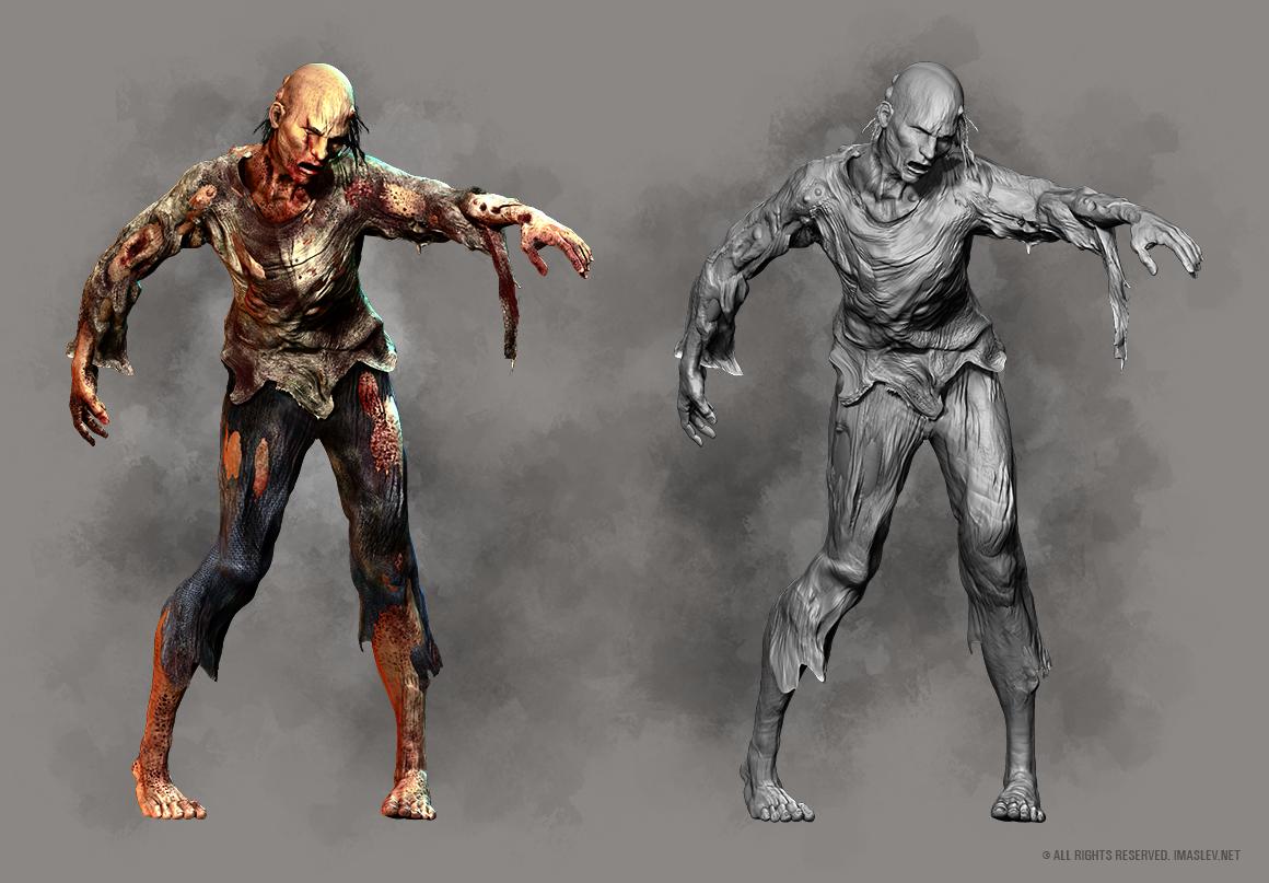 3D Zombie Slam Creature