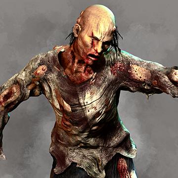 Zombie Slam Character 3D