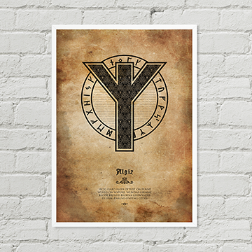 Algiz Rune Poster