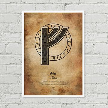 Fehu Poster Rune