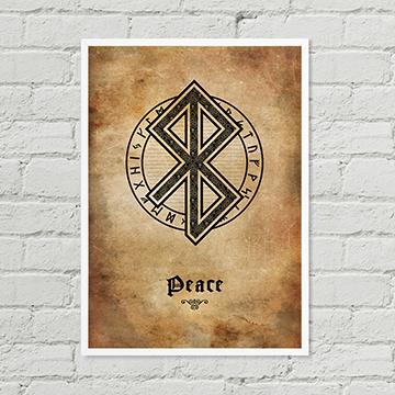 Peace Rune Poster