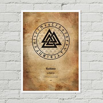 Valknut Rune Poster